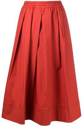 Fay box pleated A-line skirt