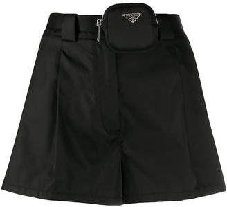 Prada Detachable Pouch Short Shorts