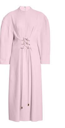 Tibi Lace-Up Cady Dress