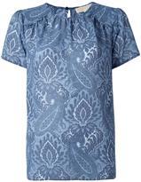 MICHAEL Michael Kors printed shortsleeved blouse