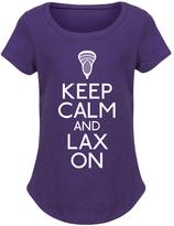 Purple 'Keep Calm and Lax On' Stick Curved-Hem Tee - Girls