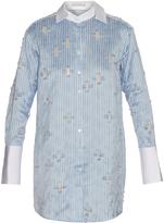 Palmer Harding PALMER/HARDING Fil coupé pinstripe shirtdress