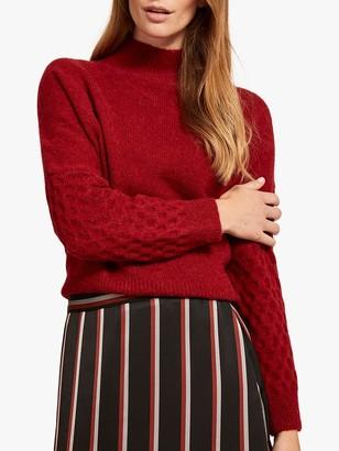 Mint Velvet Honeycomb Stitch Knit, Red