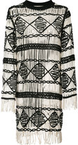 Nicole Miller fringed dress