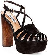 Steve Madden Gingur Suede Platform Sandals