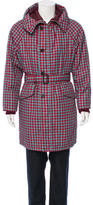 Prada Gingham Down Coat