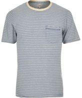 River Island MensBlue stripe Jack & Jones Vintage T-shirt