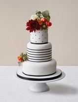 Marks and Spencer Vogue Wedding Cake White & Black Icing
