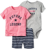 Carter's 3-Pc. Future Legend T-Shirt, Bodysuit & Shorts Set, Baby Boys (0-24 months)