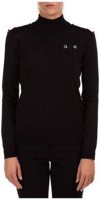 Boutique Moschino Moschino Grommet Detail Long Sleeve Knit Sweater