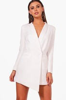 boohoo Petite Tara Asymmetric Blazer Dress