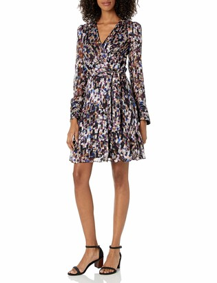 Milly Women's Chelsea Mosaic Silk Burnout Long Sleeve Dress