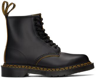 Dr. Martens Black 1460 Double Stitch Lace-Up Boots