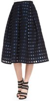 Erdem Ina Checked File Coupe Midi Skirt