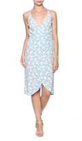 Olivaceous Lena Wrap Dress