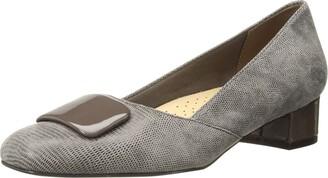 Trotters Women's Delse Taupe Low Heel Pump 9.5 M