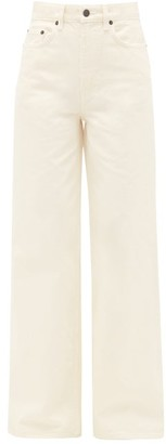 The Row Issa High-rise Cotton Wide-leg Jeans - Ivory