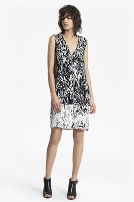 French Connection Copley Crepe Zipped V Neck Tunic Dress