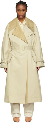 Low Classic Beige Belted Trench Coat