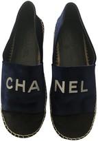 Chanel Blue Velvet Espadrilles