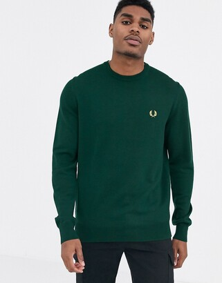 Fred Perry merino wool jumper in green