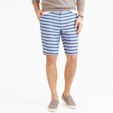 "J.Crew 10.5"" Stanton short in indigo-striped Irish linen"