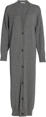 The Row Armando Cashmere Button-Front Long Cardigan