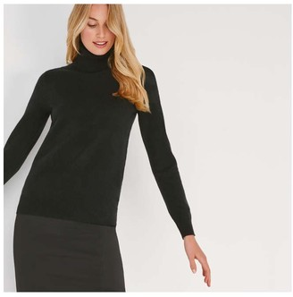 Joe Fresh Women's Cashmere Turtleneck, JF Black (Size S)