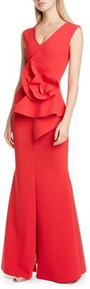 Chiara Boni Ebeline Ruffle Detail Gown