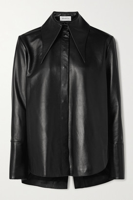 16Arlington Seymour Leather Shirt - Black