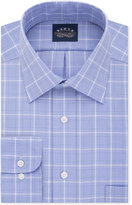 Eagle Men's Classic-Fit Non-Iron Stretch Collar Blue Frost Check Dress Shirt