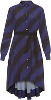 Giles Bi-colour zigzag-print dress