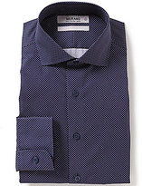 Murano Slim-Fit Pindot Cutaway-Collar Dress Shirt