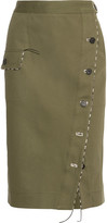 Altuzarra Curry Cotton-blend Twill Skirt - Army green