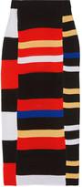 Proenza Schouler Striped Crochet-knit Midi Skirt - medium