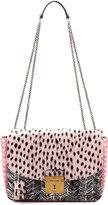 Marc Jacobs Polly Mini Snakeskin Shoulder Bag, Pink/Black/Multi