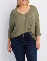 Charlotte Russe Plus Size High-Low Dolman Tee