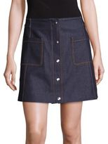 McQ by Alexander McQueen Denim Detail Pocket Skirt