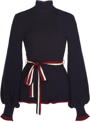 Roksanda Auric Belted Wool Sweater