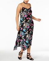 Love Squared Trendy Plus Size Handkerchief-Hem Maxi Dress