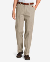 Eddie Bauer Men's Performance Dress Flat-Front Khaki Pants - Classic Fit
