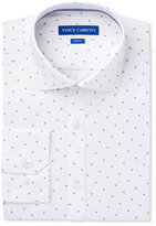 Vince Camuto Men's Slim-Fit Comfort Stretch Blue Paisley Print Dress Shirt