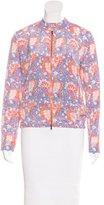Carven Floral Print Bomber Jacket