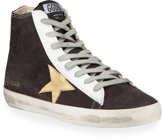 Golden Goose Francy Brushed High-Top Sneakers