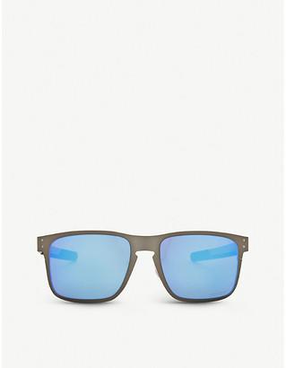 Oakley Ladies Matte Grey Modern Oo4123 Holbrook Square-Frame Sunglasses