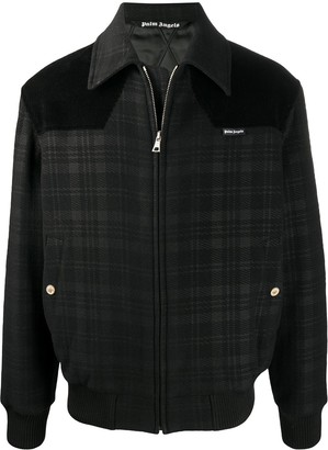 Palm Angels Checked Collared Jacket
