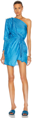 Dundas One Shoulder Mini Dress in Blue Sky | FWRD