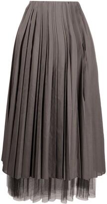 Fabiana Filippi Layered Pleated Skirt