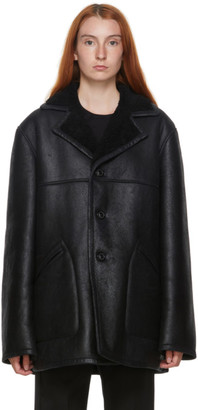 Maison Margiela Black Shearling Jacket