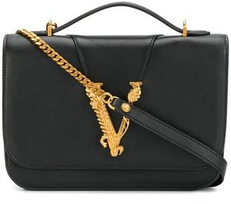 Versace logo leaf shoulder bag